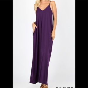 a42ddd89846 Zenana Premium. Strappy Maxi Dress